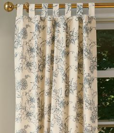 Andrea Tab Top Insulated Botanical Toile Curtains