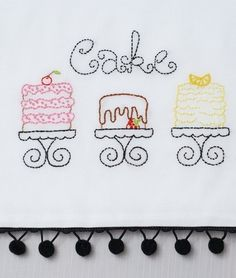 Cake Embroidery Pattern Packet. my aunt Julie would love this.