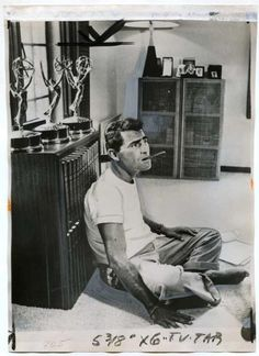 Rod Serling, with the three Emmys he won for live-teleplay writing, pre-Twilight Zone.