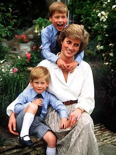 diana with william and harry, 1988