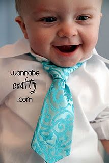 Baby Boy Neck Tie - Pattern and Tutorial