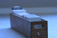Library card catalog to help hold #projectlife cards