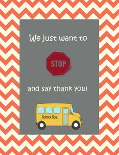 Bus driver thank you card. Made using Stampin' Up! MDS. Bus from ...