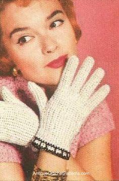 Free Crocheted Gloves Pattern - Easy Crochet Patterns