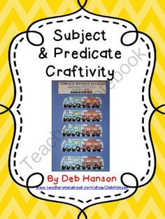 Subject & predicate craftivity - Are you looking for an engaging way to teach your students about subjects and predicates within sentences? Try the train analogy!.  A GIVEAWAY promotion for Subjects and Predicates Train Craftivity (includes teaching poster & 2 worksheets) from Crafting Connections with Deb on TeachersNotebook.com (ends on 9-19-2013)
