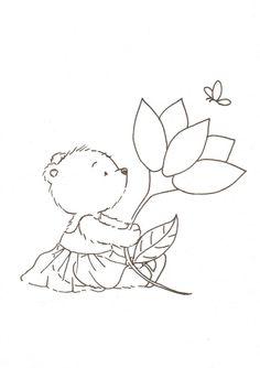 bear & flower