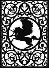 Pegasus fretwork pattern from craftsmanspace.com. Lots of other cool designs also.
