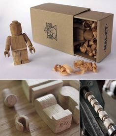 Wooden LEGO Minifig by Malet Thibaut