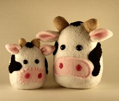 Custom Mini Cow plushie by Saint Angel, via Flickr - for dale