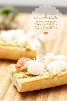 Lobster Avocado Sandwich with Garlic