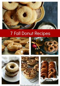 7 Fall Donut Recipes...I have to make these!!! #donut #recipe #fall