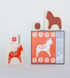 Dala Horse Stamp Set, 2-Pack by Yellow Owl Workshop on Scoutmob Shoppe