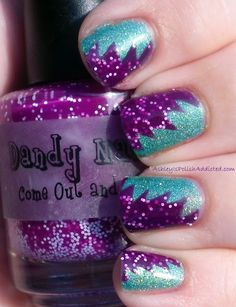 Purple Explosion! Love these nails