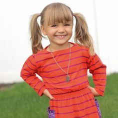 Turn a big tee into a darling toddler dress!