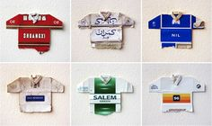 Recycled Cigarette Boxes Transformed Into Miniature Soccer Jerseys - DesignTAXI.com