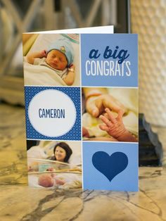 Welcome to the world baby! Abby made an adorable congratulations card for a fresh pair of parents.
