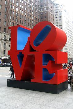 Love Sculpture in New York - Robert Indiana's LOVE