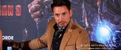 "Ahahaa....RDJ was asked, ""If the Iron Man suit existed in the real-world and you could have it for one day, what would you do?"" He responded, ""SELL IT!"" And then made this face. YOU CAN HEAR THE EVIL LAUGHTER RIGHT THERE."