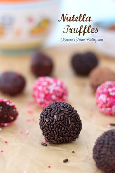 Nutella Truffles from Roxanashomebaking.com