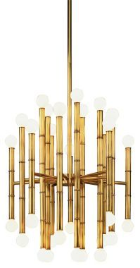 Jonathan Adler Meurice Brass Robert Abbey Chandelier