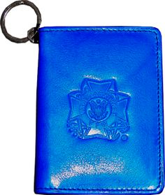 NEW blue leather ID holder with LAVFW emblem $11.95 at www.vfwstore.org blue leather