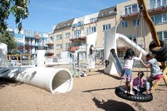 A Playground Made Of Reused Rotor Blades From Giant Windmills