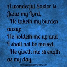 A wonderful Saviour is Jesus my Lord | MP3 Song | Free ...