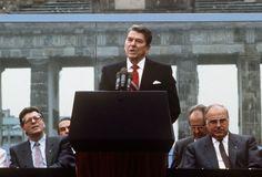 Ronald Reagan at the Berlin Wall.