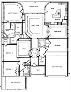 Exterior entry floorplan on pinterest custom homes parade of homes and craftsman - Dream home floor plan model ...