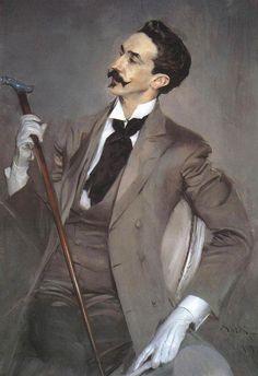 Giovanni Boldini, Portrait of Count Robert de Montesquiou, Oil on canvas  1897 ( tache : )