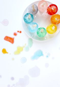 Rainbow Teething Popsicles