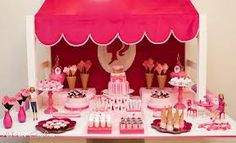 Barbie Themed Candy Buffet... Getting ideas for Olivia's 4th Birthday