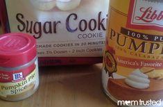 3 Ingredient Pumpkin Sugar Cookies - Preschool Activities and Printables sugar, spice and canned pumpkin....no allergies!