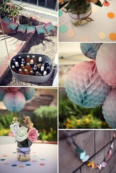 Watercolor Baby Shower with lots of cute DIY ideas