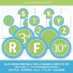 Spell Out Anything With these FREE Alphabet Circle Banners from Sarah Hope Designs   Catch My Party