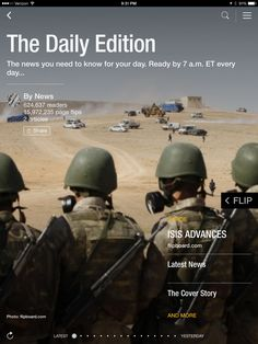 ISIS advances, Biden's gaffes and power of political money. Check out today's edition: flip.it/dailyedition