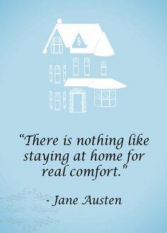 Jane Austen Home Quote 5x7 typography art print by HauteWhimsy #Books