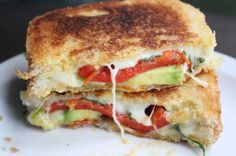 The Ultimate Grilled Cheese with Avocado, Red Peppers, & Bacon from The Daily Dish Recipes #CrazyCookingChallenge #GrilledCheese