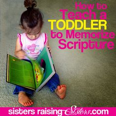 Start hiding His Word in their hearts early. This is a list packed with resources and ideas to help you learn how to teach a toddler to memorize scripture.
