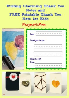 Writing Charming Thank You Notes (FREE Printable) : Day 12 of 12 Days of Shopping @pragmaticmom #featured #turnituptuesdays  :: PragmaticMom