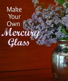 Super simple to make your own Mercury glass!!  Total cost is about $12 to make 6 of them!