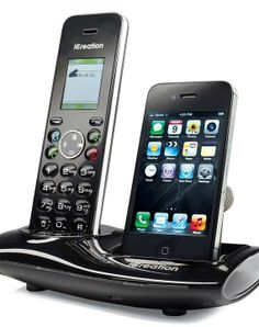 Our Dual Dock iPhone & DECT 6.0 Cordless Phone lets you make, receive, or transfer phone calls from either your iPhone or a landline.