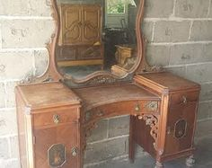 gorgeous ornate carved antique vanity beautiful