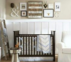 Baby's bedroom by Pottery Barn Kids | http://www.potterybarnkids.com/m/shop/bedding/boys-nursery-bedding/
