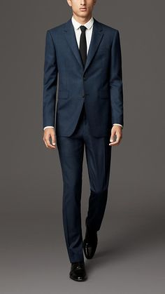 Burberry London Modern Fit Check Wool Suit