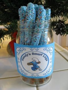 Maria mole azul para festa dos smurfs
