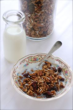 Maple granola with cranberries and toasted coconut