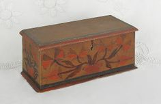 Catalogue for October 27th 2012 |  Miniature Pennsylvania painted pine blanket chest, ca. 1800, possibly Christian Seltzer