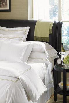 Grande Hotel Bed Linens: White/Grey  Duvet:106x92 $221
