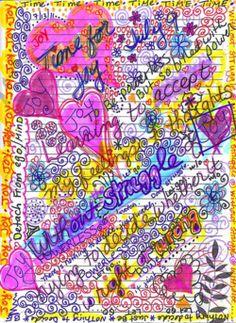 art journaling color- time for joy